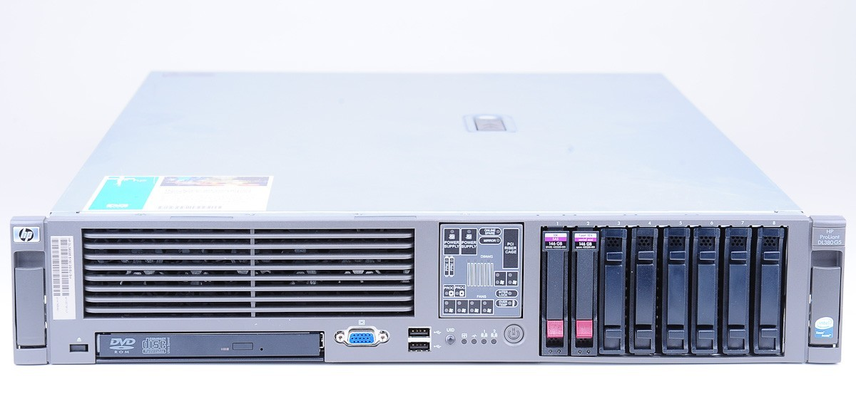 hp proliant dl380 g5 server 2x xeon 5160 dc 3 0 ghz 8 gb ram 2x 146 gb sas 10k ebay. Black Bedroom Furniture Sets. Home Design Ideas