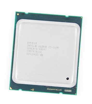 Intel Xeon E5-2609 Quad Core CPU 4x 2.4 GHz, 6.4 GT/s, 10 MB L3 Cache, Socket 2011 - SR0LA