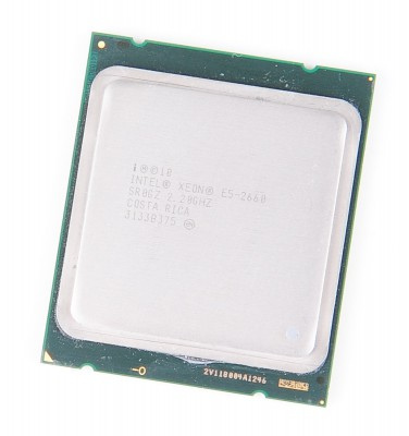 Intel Xeon E5-2660 8-Core CPU 8x 2.2 GHz, 8.0 GT/s, 20 MB L3 Cache, Socket 2011 - SR0GZ