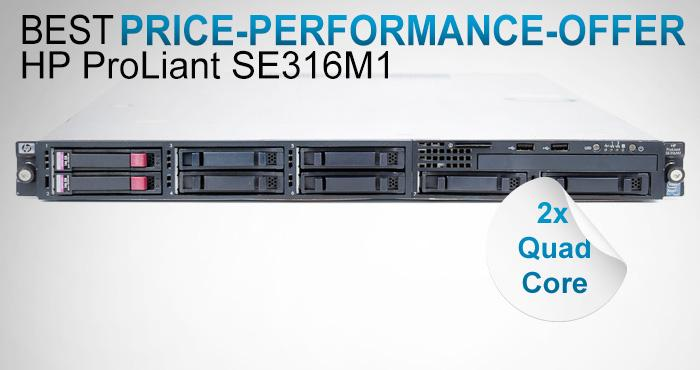 HP Proliant SE316M1, 2x Intel Xeon L5520 Quad Core 2.27 GHz, 32 GB RAM, 2x 146 GB SAS, only 549,99 EUR