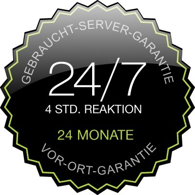 24 months used-server-warranty incl. 24/7 support with 4h reaction time and on-site service