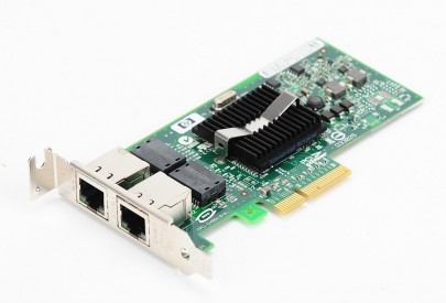 HP NC360T Dual Port Gigabit Server Adapter / Netzwerkkarte PCI-E - 412651-001 - low profile