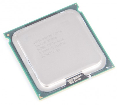 INTEL XEON L5420 SLBBR Quad Core CPU 2.50 GHz / 12 MB L2 / Socket 771 / 1333 MHz FSB