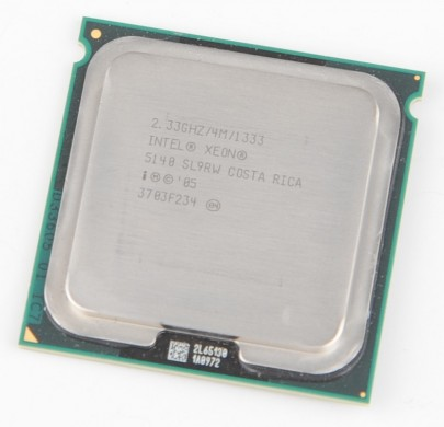 INTEL XEON 5140 SL9RW Dual Core CPU 2x 2.33 GHz / 4 MB L2 / 1333 MHz FSB / Socket 771