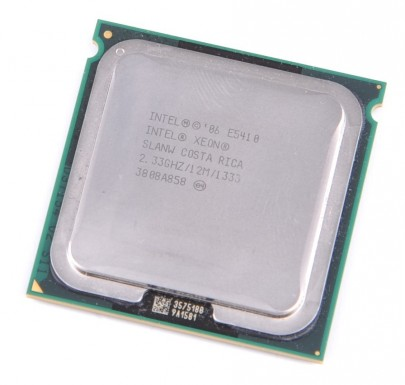 INTEL XEON E5410 SLANW Quad Core CPU 4x 2.33 GHz / 12 MB L2 / 1333 MHz FSB / Socket 771