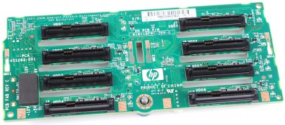 "HP 8x 2.5"" SAS Festplatten / Hard Disk Backplane Board - ProLiant DL380 G6 / G7 - 507690-001"