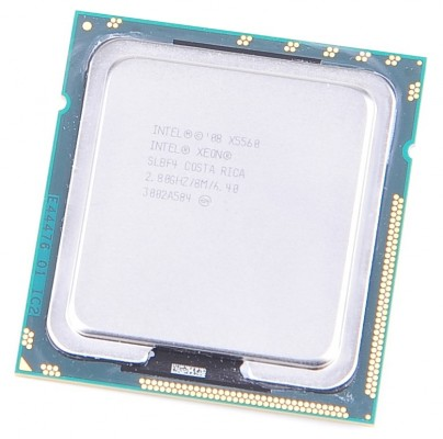 Intel Xeon X5560 SLBF4 Quad Core CPU 4x 2.8 GHz, 8 MB Cache, 6.4 GT/s, Socket 1366