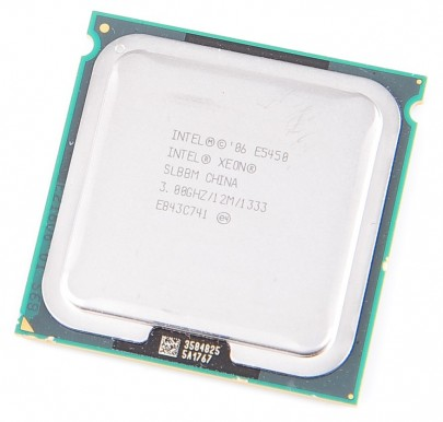 INTEL XEON E5450 SLBBM Quad Core CPU 4x 3.0 GHz / 12 MB L2 / 1333 MHz FSB / Socket 771