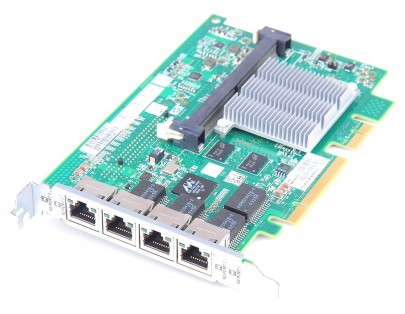 HP NC375i Quad Port Gigabit Server Adapter / Netzwerkkarte PCI-E - 491838-001