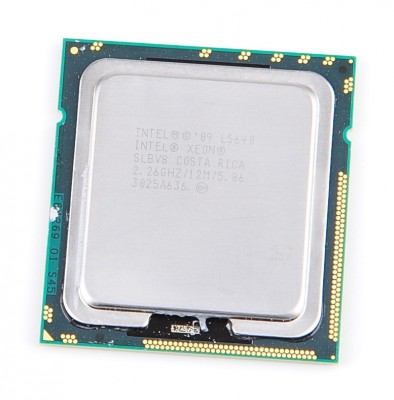 Intel Xeon L5640 SLBV8 Six Core CPU 6x 2.26 GHz, 12 MB Cache, 5.86 GT/s, Socket 1366