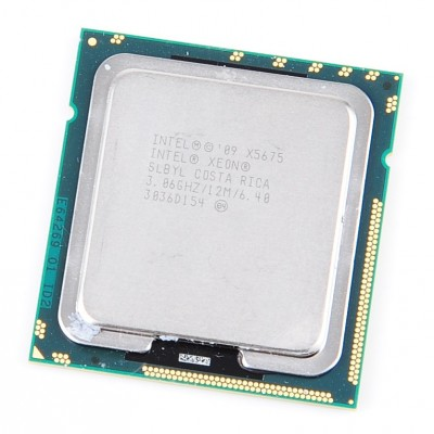 Intel Xeon X5675 SLBYL Six Core CPU 6x 3.06 GHz, 12 MB Cache, 6.40 GT/s, Socket 1366