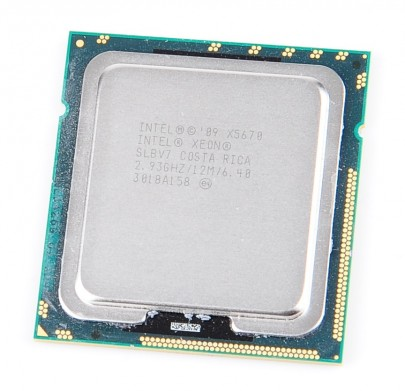 Intel Xeon X5670 SLBV7 Six Core CPU 6x 2.93 GHz, 12 MB Cache, 6.40 GT/s, Socket 1366