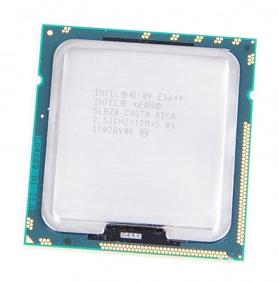 Intel Xeon E5649 SLBZ8 Six Core CPU 6x 2.53 GHz, 12 MB Cache, 5.86 GT/s, Socket 1366