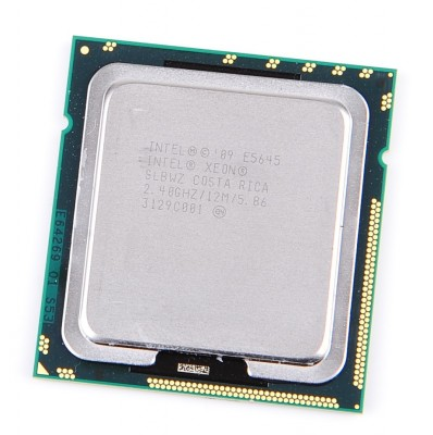 Intel Xeon E5645 SLBWZ Six Core CPU 6x 2.4 GHz, 12 MB Cache, 5.86 GT/s, Socket 1366