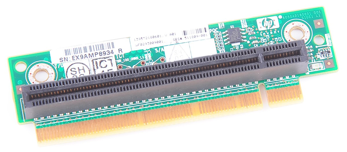 PCI-E x16 Riser Card 1U LP / 511809-001 - DL120 G6 / DL320 G6 / SE316M1